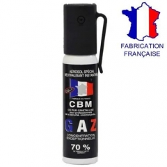 BOMBE LACRYMOGÈNE ANTI-AGRESSION 25ML CBM - GAZ CS