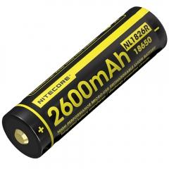 NITECORE - ACCUS LI-ION 18650 - 2600MAH - 3.7V - 9,6WH - PORT USB